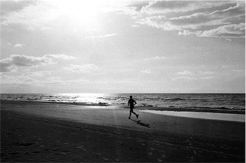 JOGGING AT BEACH